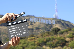 Hollywood and Clapperboard