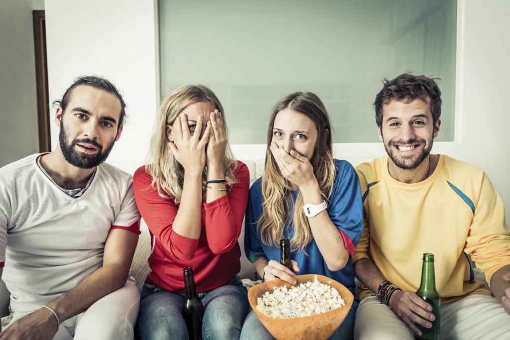Watching Horror Movie - iStock_000054122624_Medium