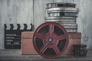 Cine Reels Piled Up