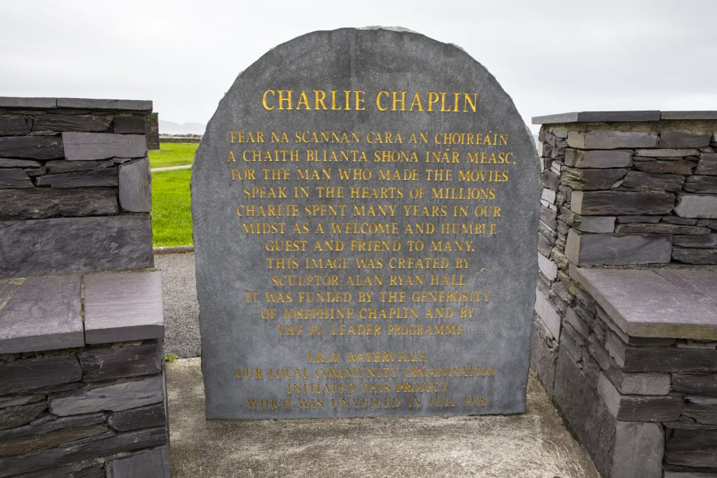 Waterville, Republic of Ireland - Plaque for Charlie Chaplin